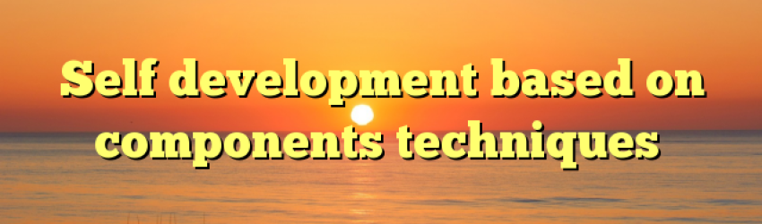 Self development based on components techniques